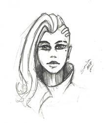 Sombra quick pencil sketch