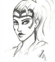 Widowmaker quick pencil sketch