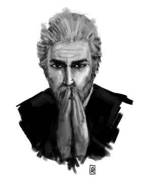 Face practice Old man