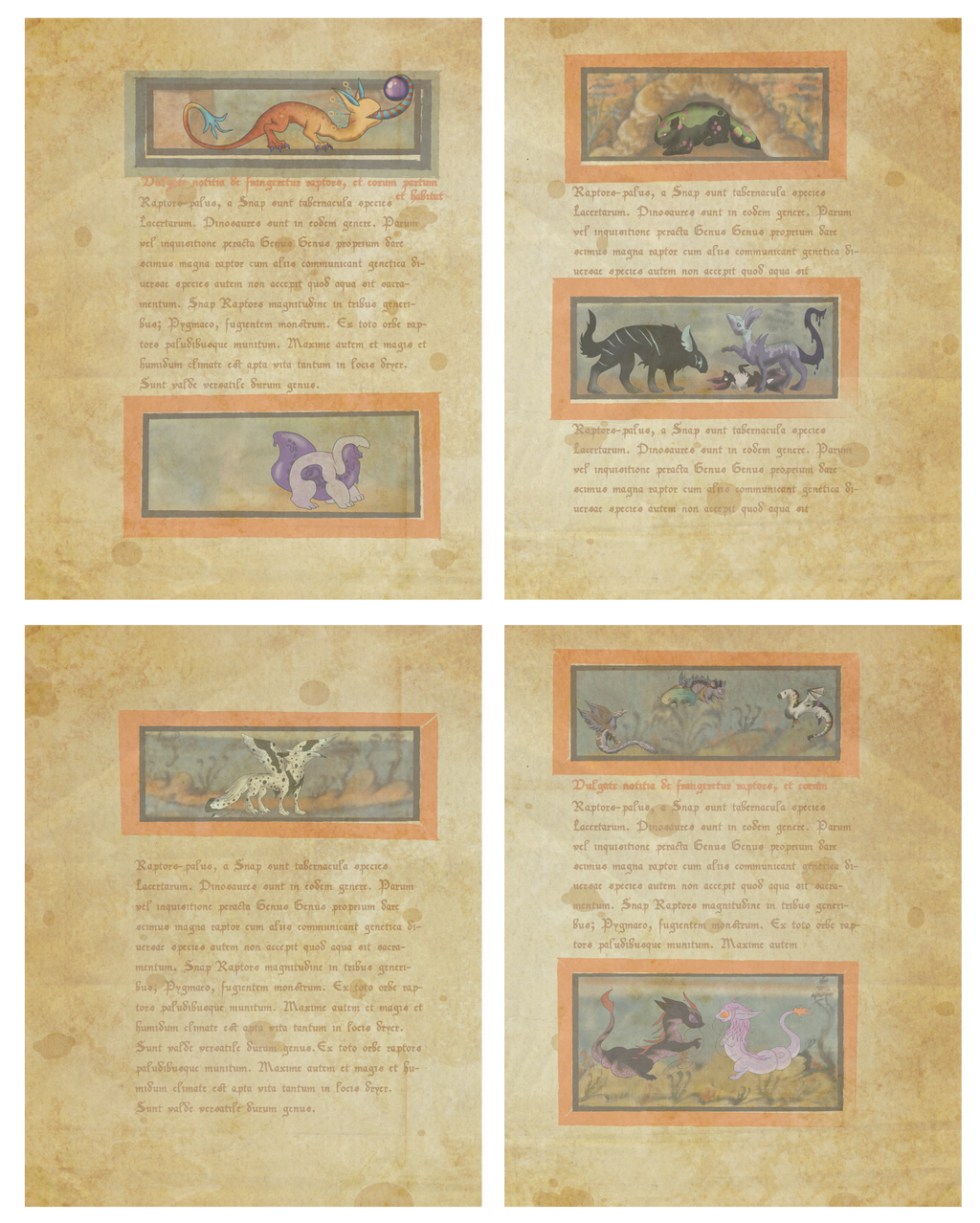 Graphic Design II Final - Medieval Bestiary
