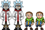 Destroyed Realities Rick and Morty sprites V2
