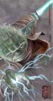 Yoda Clone Wars Card