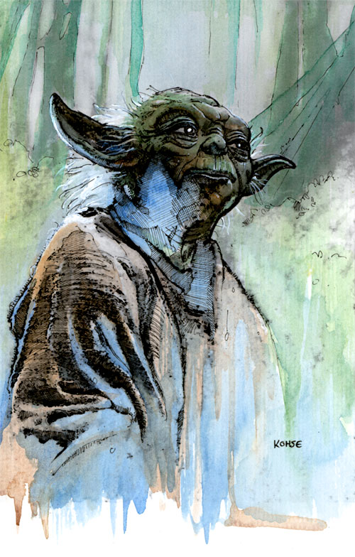 Yoda in Watercolor by kohse