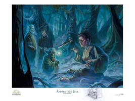 Apprentice Leia litho with Remarque
