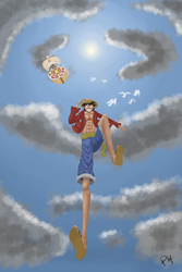 Luffy going to a new adventure