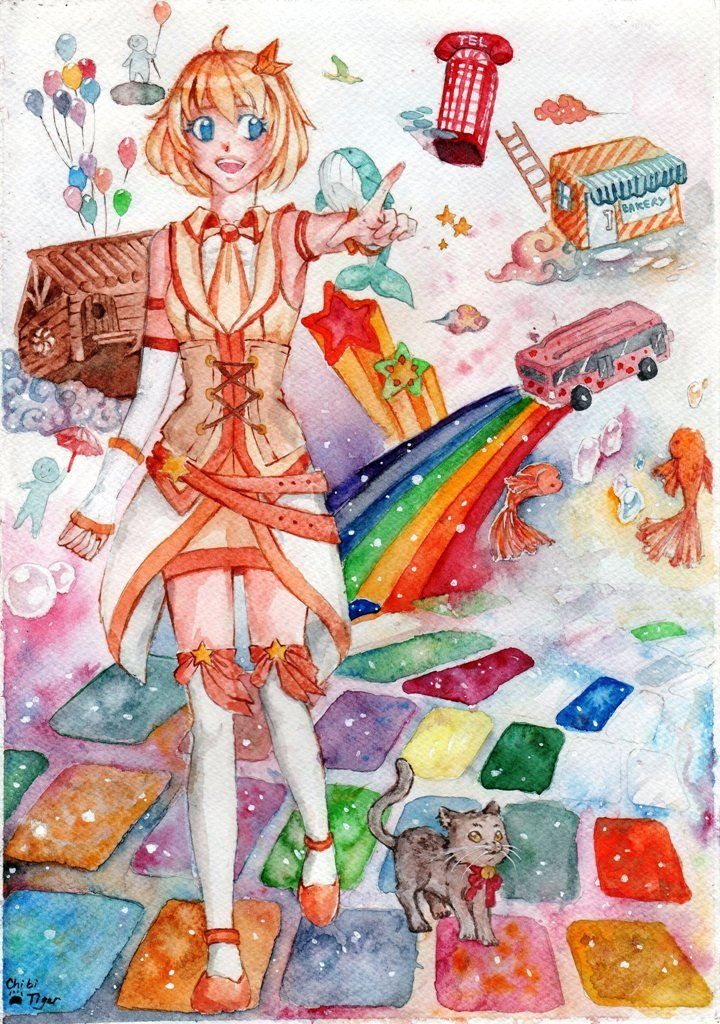 the rainbow world by ChiibiTiger