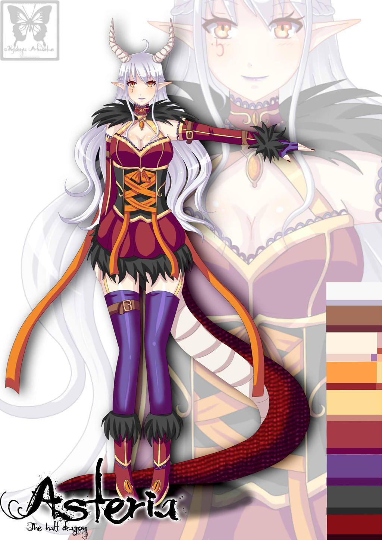Anime half dragon girl