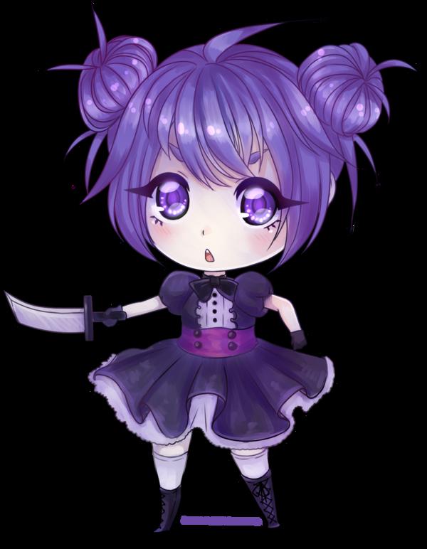 Purple chibi by Hyldenia