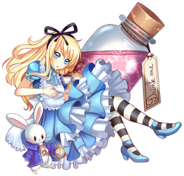 Alice in wonderland by Lady-Saturna