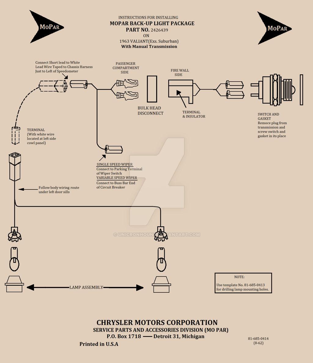 Wiring diagram 1963 Valiant reverse Lights by UnicronHound ... on