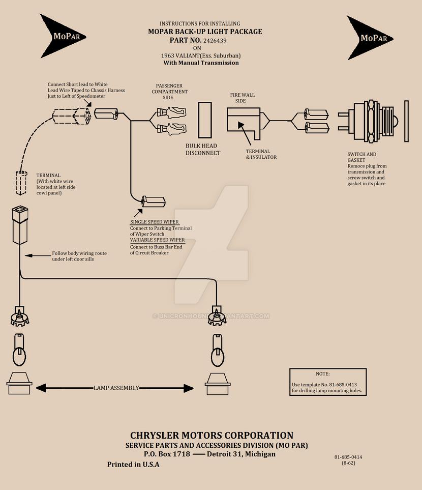 Wiring Diagram 1963 Valiant Reverse Lights By Unicronhound