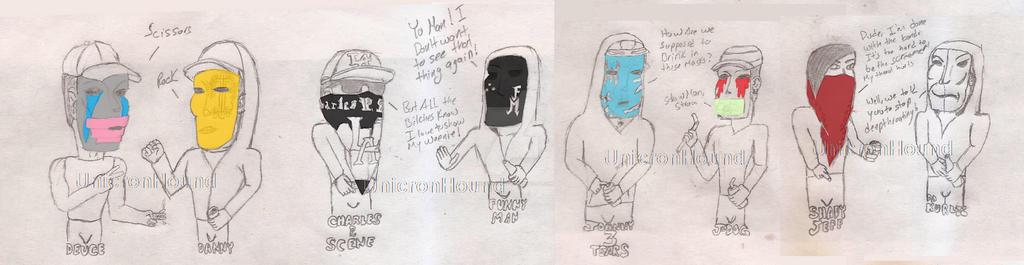 Chibi Hollywood Undead 2.1 by UnicronHound