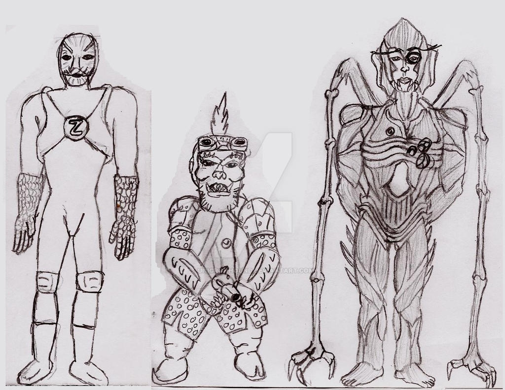 MMPR Villains 1 by UnicronHound