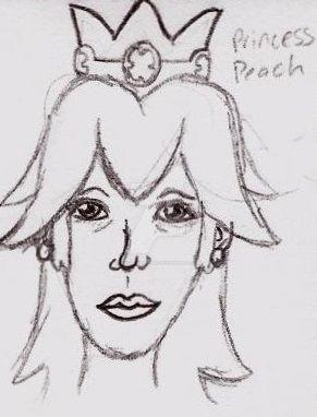Mario Bros Adult Toon Princess Peach by UnicronHound