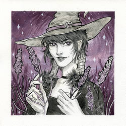Lavender Witch | Inktober 2018 | Day 1