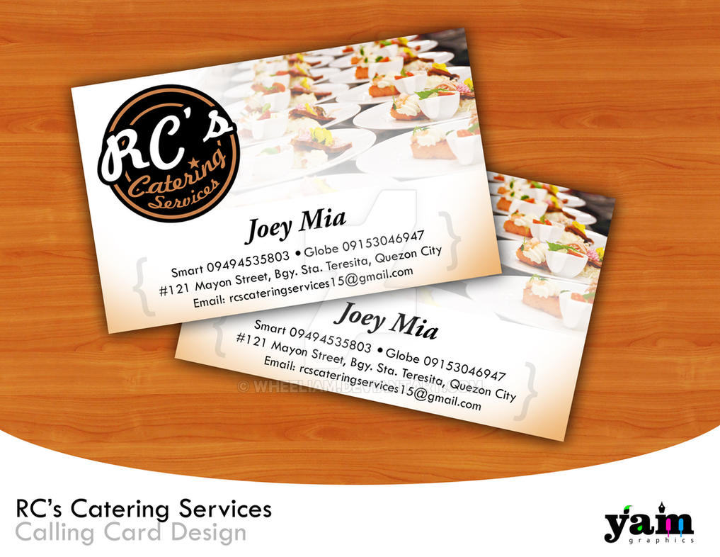 RCs Catering\'s Calling Card by wheeliam on DeviantArt