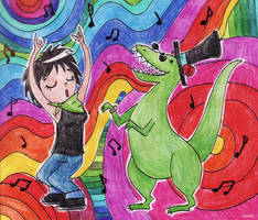 Siu y el baile del dinosaurio by Lutih