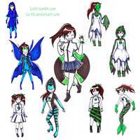 Ben10 - mahou shojo dresses by Lutih