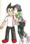 Friendly kiss
