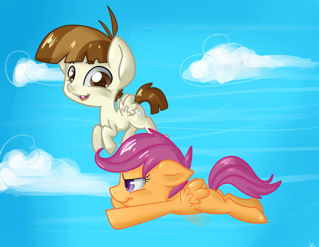 FeatherWeight and Scootaloo Commission