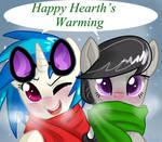 Happy Hearth's Warming Vinyl Scratch and Octavia