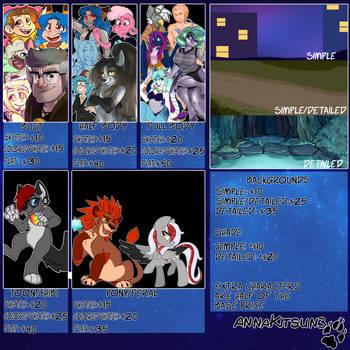 Commission Sheet by AnnaKitsun3