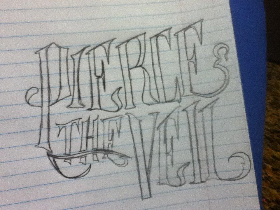 pierce the veil logo pencil doodle by rainbowskatersteve