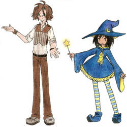 Gizmo and Luna by GirlOfThe21stCentury