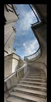 Sacre Coeur Stairway Panorama by Blofeld60
