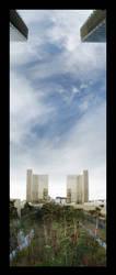 Jardin de la BnF Panorama by Blofeld60