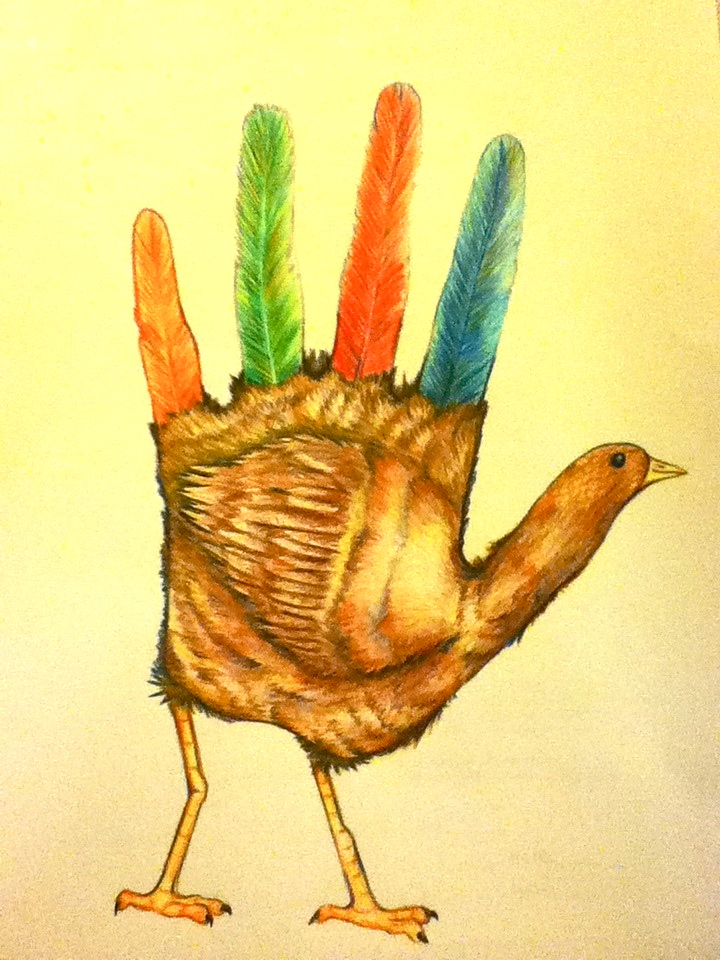 Ridiculously Realistic Hand Turkey by starry-seas