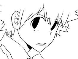 KHR: Tsuna Lineart by OukaSakazaki