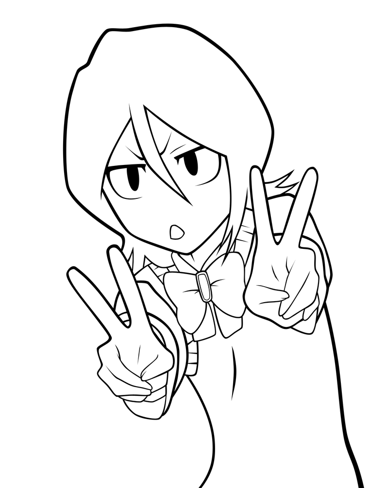 Bleach rukia trial lineart by oukasakazaki on deviantart for Bleach color pages