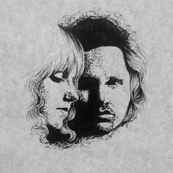 Jim Morrison and Pam Courson