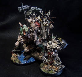 Stormcast Lord on Dracoth and Lord Relictor