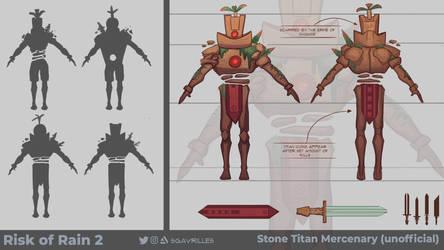 Stone Titan Mercenary Concept Art by sgavrilles