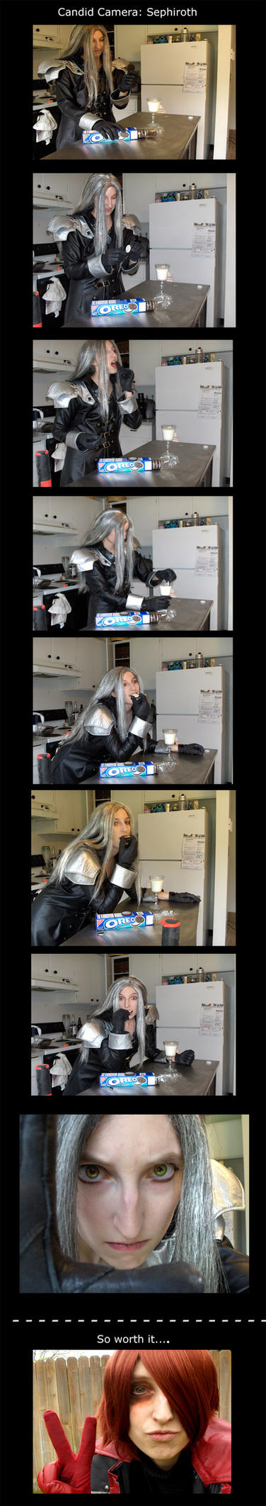 Candid Camera: Sephiroth by The-Winter-Cosplayer