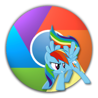 Updated Rainbow Dash Icon for Google Chrome by Suriander