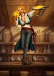 Dungeon and Dragons Hero: Fire Genasi Bard
