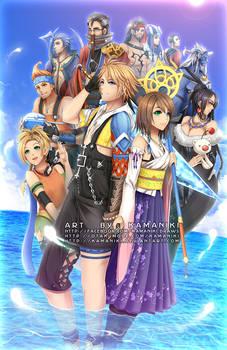 Final Fantasy 10 by Kamaniki