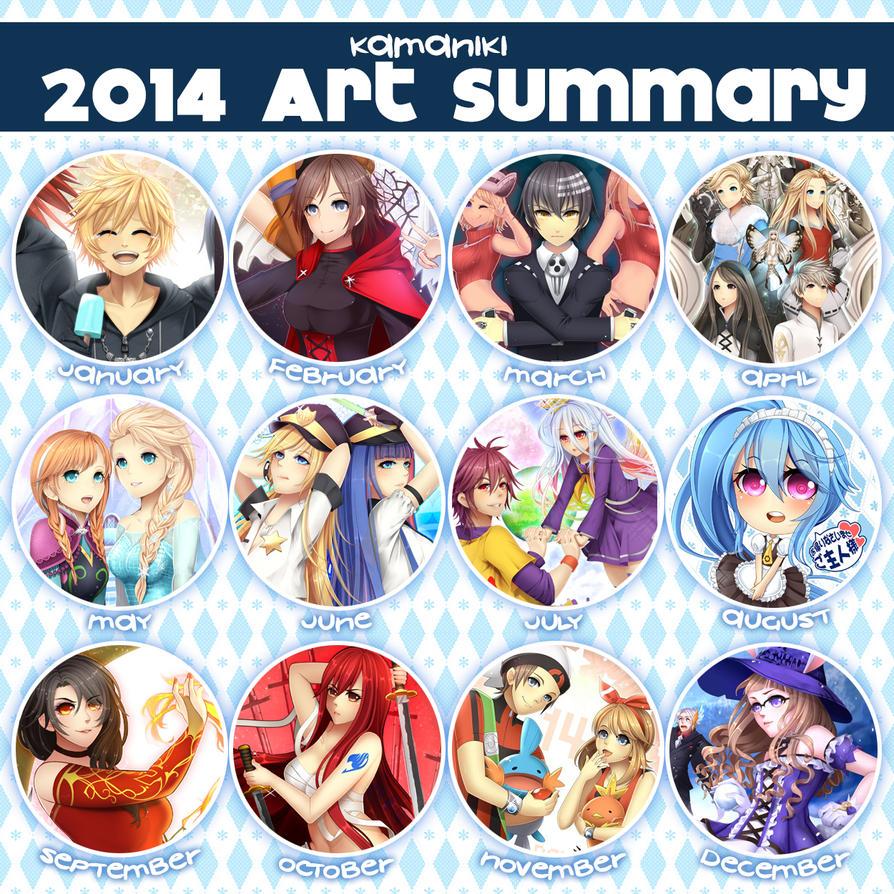 Happy New Year 2014 Art Summary by Kamaniki