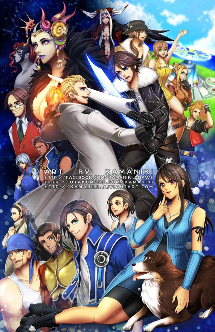 Final Fantasy 8 by Kamaniki