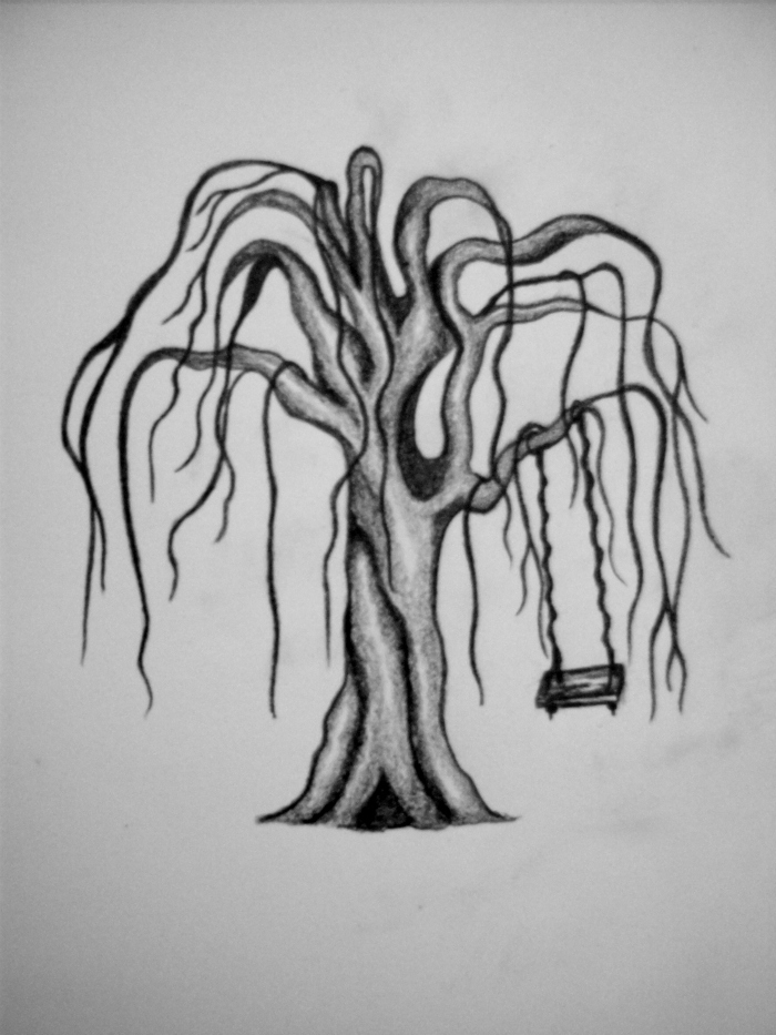 Weeping willow tree with swing by intoxicatingeyes on ...  Weeping willow ...