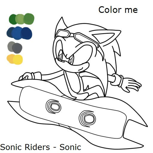sonic riders coloring pages - photo#17