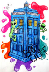 Doctor Who Splatter with Aliens