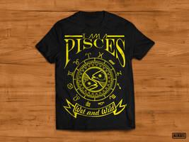 Pisces - Tshirt Design by aleksite