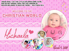 Michaela Christening - Tarpaulin by aleksite