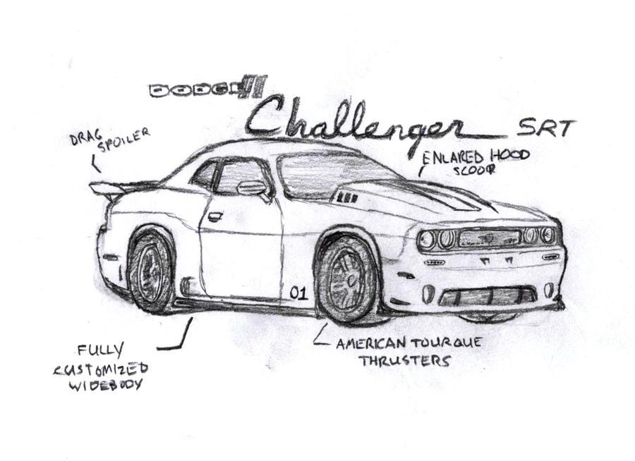 dodge challenger sketch templates