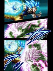 Goku versus Merged Zamasu, DBS Manga Colored by zachjacobs