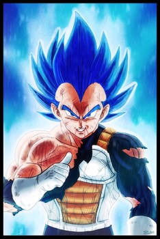 I Am Super Vegeta Royal Blue